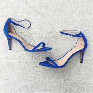 Banana Republic Blue Suede Strappy Heel